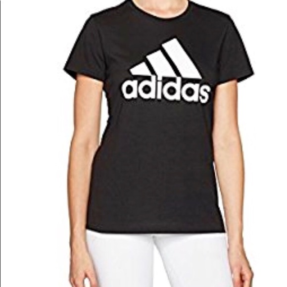 abf23124c adidas Tops | Womens Badge Of Sport Logo Tee | Poshmark
